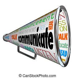 megafon, meddela, megafon, breda, ord