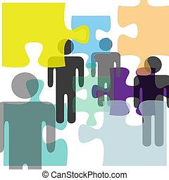 mental, folk, förvirring, problem, lösning, hälsa, problem