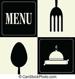 meny, bakgrund, restaurang