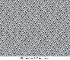 metall, mönster, golv, bakgrund, struktur, stål
