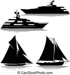 midst, vektor, yacht