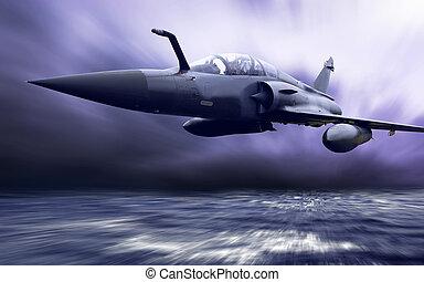 militär, airplan, hastighet