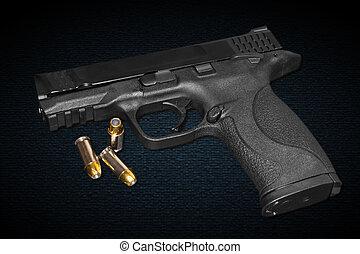 millimeter, 45, gevär, kaliber