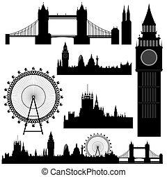 milstolpar, vektor, london