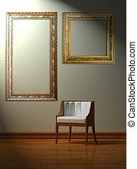 minimalist, stol, allena, inre
