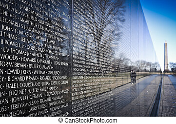minnesmärke, vietnam, washington washington dc, krig