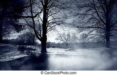 mist, silver