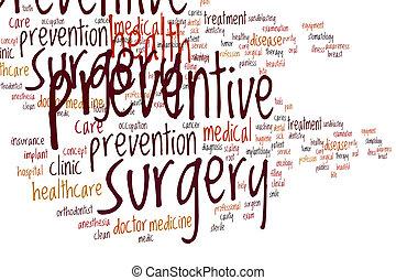 moln, ord, kirurgi, förebyggande