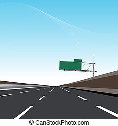 motorväg, tom