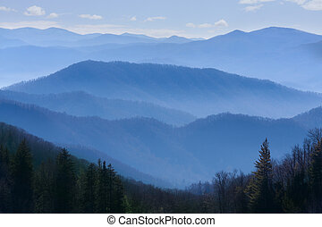 mountains, rökig