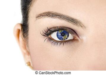 mull, ögon