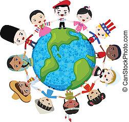mull, mångkulturellt, barn