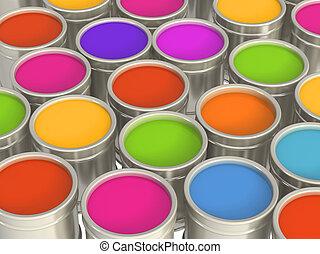 multi-coloured, målar