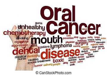 muntlig, ord, cancer, moln