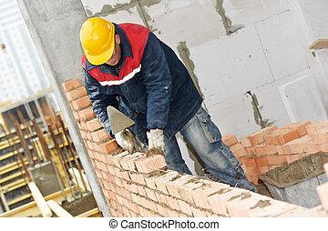 murare, anläggningsarbetare, murare
