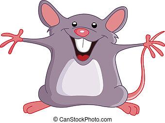 mus, lycklig
