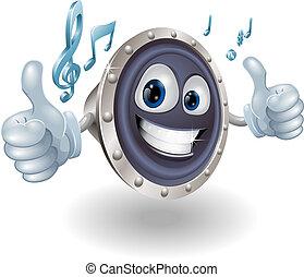 musik, audio, högtalare, tecken