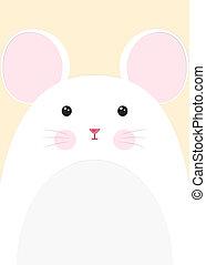 närbild, mus