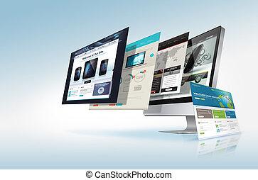 nät, begrepp, design