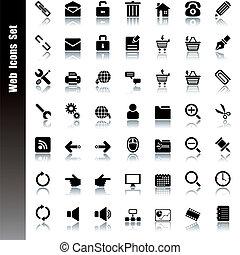 nät, sätta, ikonen