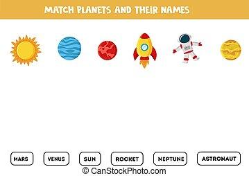 names., tändsticka, lek, elementara, kids., deras, utrymme