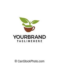 natur, vektor, design, mall, herbal, logo