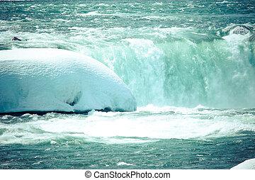 nedgångar, winter., niagara