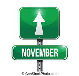 november, design, illustration, underteckna