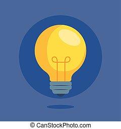 nyskapande, idé, lätt, ikon, lök, skapande