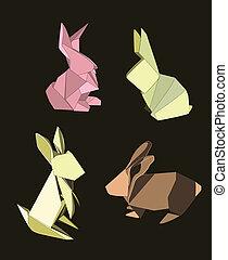 oavbrutet tjata, origami, sätta