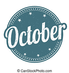 oktober, stämpel