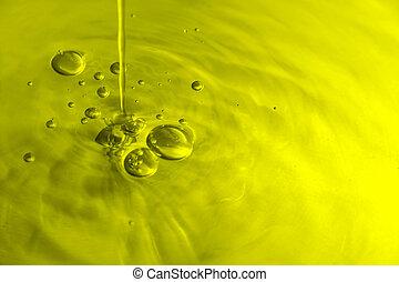 oliv, bubblar, olja