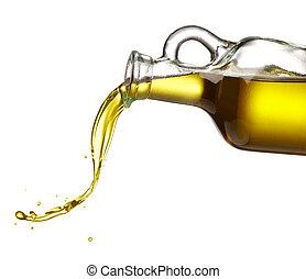 oliv, flytande, olja