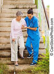 omsorgen, portion, vårda patient, senior