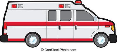 omvandling, skåpbil, ambulans