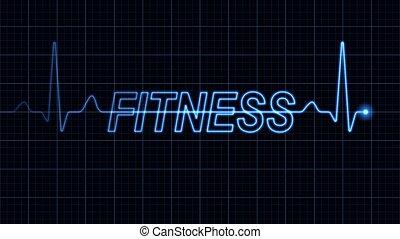 ord, elektrokardiogram, fitness