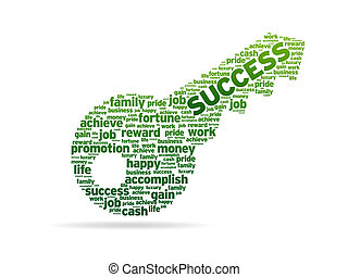 ord, -, nyckel, framgång