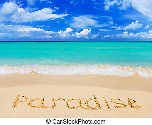 ord, strand, paradis