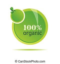 organisk, vektor, grön, illustration, natur