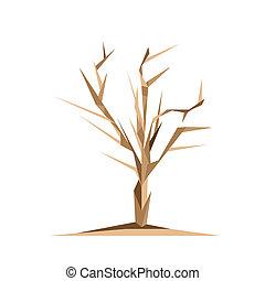 origami, träd