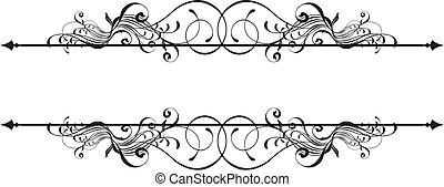 ornamental, baner, skönhet
