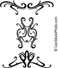 ornamental, stam, design
