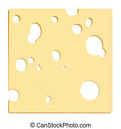 ost, skiva, fyrkant