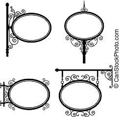 oval, underteckna
