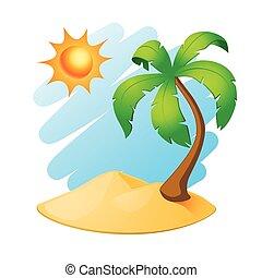 palm trä, ö