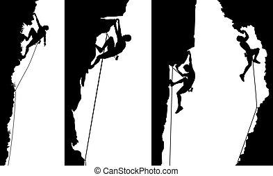 paneler, klättrare, sida