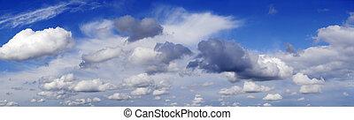 panorama, moln