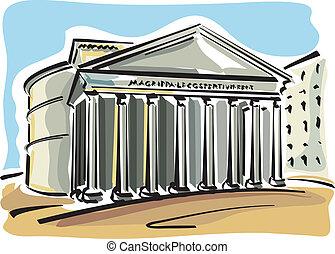 (pantheon), rom