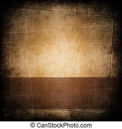 papper, bakgrund, brun, mörk, årgång