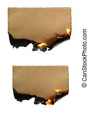papper, brännande